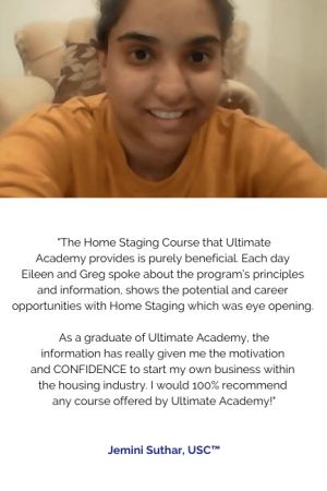 Jemini Suthar, USC™ - Home Staging - Online
